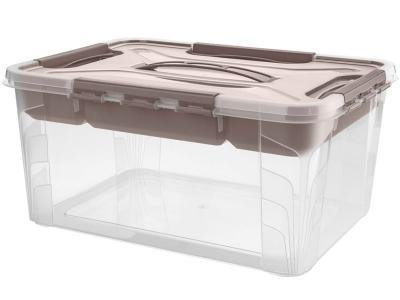 Ящик GRAND BOX 15, 3л с замками и органайзером 390*290*180мм Бытпласт