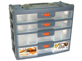 Органайзер для мелочей Expert 4 секции серо/оранж