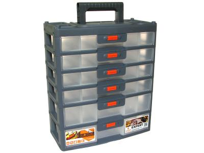 Органайзер для мелочей Expert 6 секций серо/оранж PLASTIC REPABLIC
