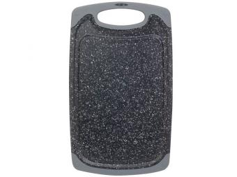 Доска разделочная пластиковая серый мрамор 451695
