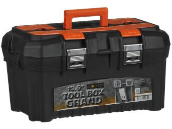 Ящик для инструментов GRAND SOLID 19,5'' черный/оранжевый