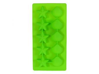 Форма силиконовая Звездочки и ракушки 10 кубиков