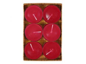 Свеча чайная ароматическая цветная 6шт