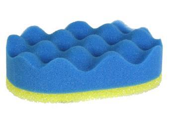 Губка банная Тонус с массажным слоем 16,5*10,5*6см