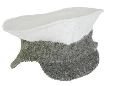 Шапка Фуражка комби Hot Pot войлок 100% Банные штучки