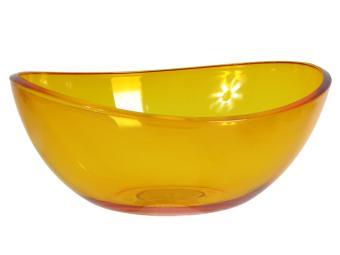 Салатник Кристалл Оранжевый 2,5л прозрачный