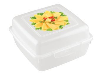 Контейнер для продуктов с декором 14*14*7,5см