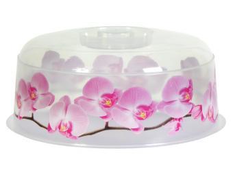 Крышка для СВЧ 25см Орхидея