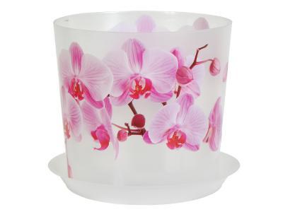 Кашпо Деко 2, 4л Орхидея М-пластика