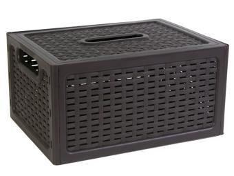 Ящик с крышкой ротанг коричневый