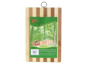 Доска разделочная 18*28см бамбук полоска с колечком