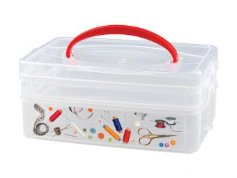 Коробка универсальная с ручкой и декором