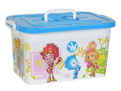 Ящик для игрушек 10л Фиксики Полимербыт