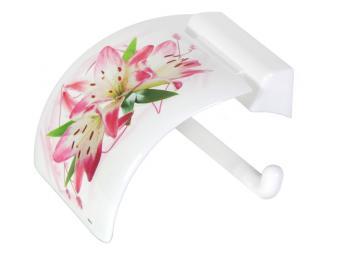 Держатель для туалетной бумаги пластик Лилия