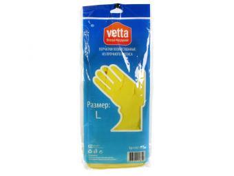 Перчатки резиновые желтые (L,XL,M)