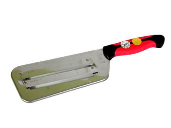 Нож шинковка для капусты 2 лезвия прорезиненная ручка