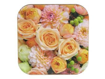 Подставка под горячее 18*18 см Цветы