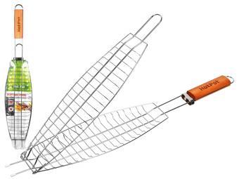 Решетка-гриль для рыбы 60(+4)*36*12*4см Hot Pot
