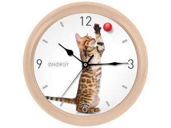 Часы настенные кварцевые ENERGY EC-113 Кот