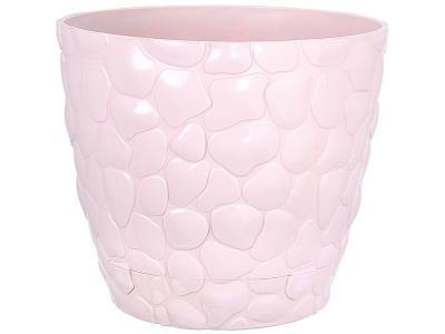 Кашпо ''Камни'' 1, 4л с подставкой (чайная роза) М-пластика