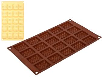Форма силиконовая Прямоугольная печенье 30*17,5см 20 ячеек
