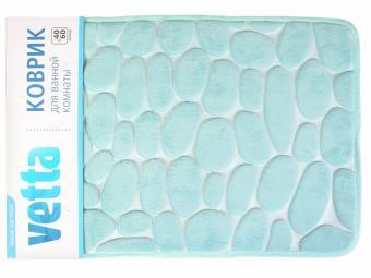 Коврик 40*60 для ванной губка Камешки микрофибра