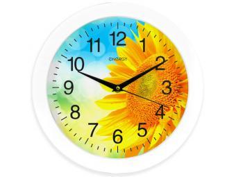 Часы настенные кварцевые ENERGY Подсолнух ЕС-97