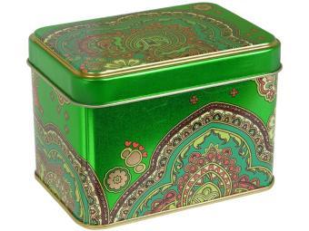 Банка жестяная Арабески зеленые 0,4л
