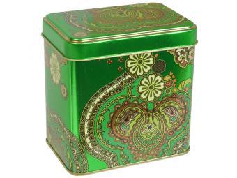 Банка жестяная Арабески зеленые 0,6л