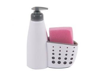 Диспенсер для жидкого мыла с местом для хранения губки для посуды Dispenser