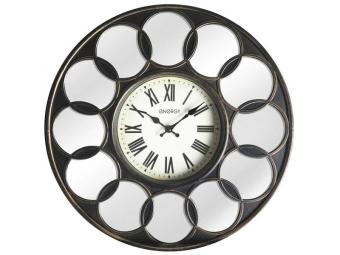 Часы настенные кварцевые ENERGY ЕС-122 круглые, зеркальные вставки