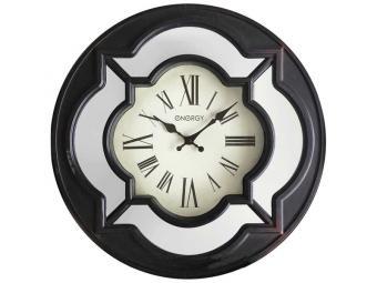 Часы настенные кварцевые ENERGY ЕС-123 круглые, зеркальные вставки