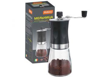 Мельница для ручного помола кофейных зерен, серия Mulino, р-р 6,6*18см, тм Mallony