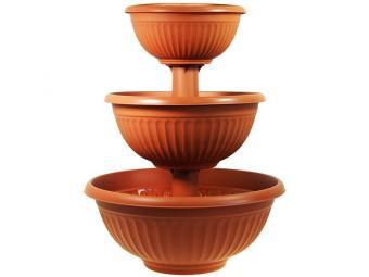 Каскад для цветов Ливия объем 35,5л терракотовый