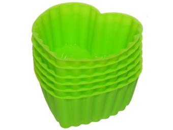 Набор форм для выпечки силикон 6шт Сердечки
