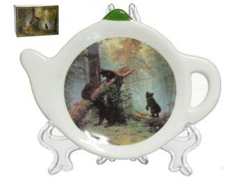 Подставка для чайного пакетика Утро в сосновом бору