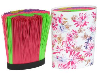 Подставка для ножей с наполнителем Цветы овал 520088