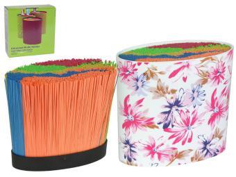 Подставка для ножей с наполнителем Цветы овал 520089