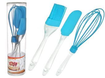 Набор кухонных принадлежностей 3пр (лопатка венчик кисточка) силикон CCI-YT 23