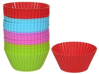 Форма для выпечки кексов силикон КЕКС мини 24шт