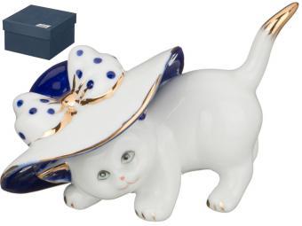 Фигурка Кошка в шляпе 8см