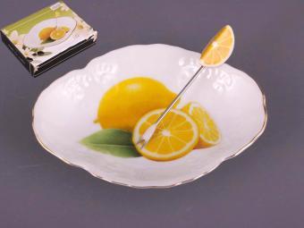 Блюдо с вилочкой для лимона 15см