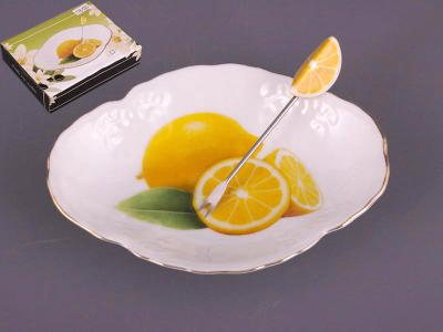 Блюдо с вилочкой для лимона 15см Арти-М
