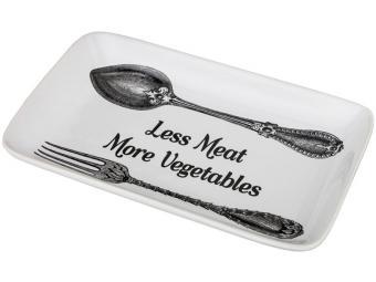 Блюдо Меньше мяса-больше овощей 25*14,5*3см