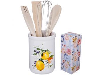 Подставка для кух. принадлежностей ''Итальянские лимоны'' 9*14см
