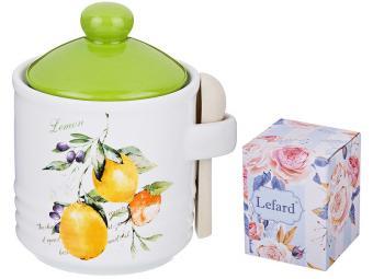 Банка для сыпучих продуктов с ложкой ''Итальянские лимоны''