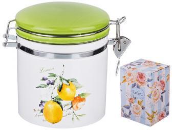 Банка для сыпучих продуктов с клипсой ''Итальянские лимоны'' 470мл