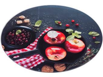 Блюдо для торта вращающееся 32*3см Яблоки