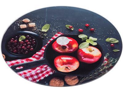 Блюдо для торта вращающееся 32*3см Яблоки Арти-М