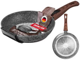 Сковорода 20см Гранитное покрытие, съемная ручка, индукционное дно Арти-М